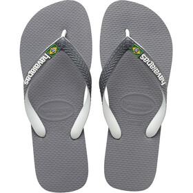 havaianas Brasil Mix Sandalias, steel grey/white/white